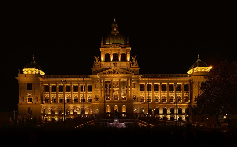 "Prague National Museum at night. ""Národní Muzeum"""